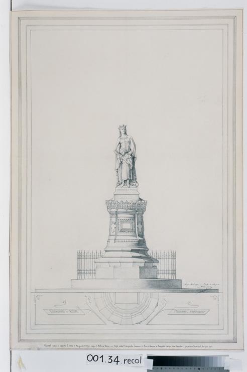Projet de monument à Marguerite d'Anjou