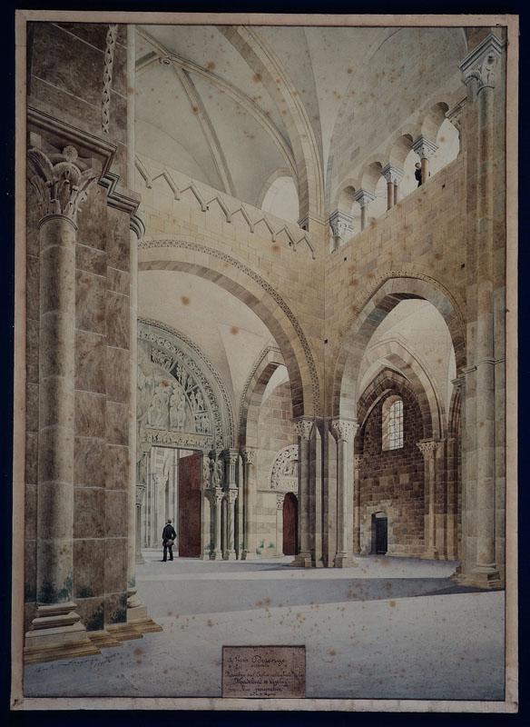 Abbaye de Vézelay ; Vue intérieure du narthex_0