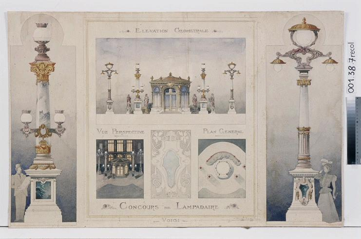 Concours de lampadaires (place du Ralliement à Angers) (pour la place du Ralliement à Angers)_0