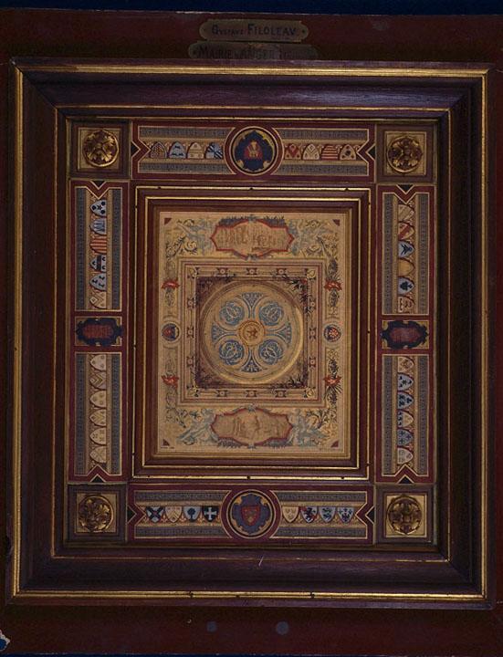 Mairie d'Angers, maquette du plafond de la salle des fêtes (Plafond de la salle des fêtes.)_0