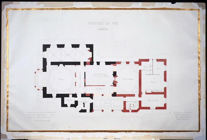FOULQUIER Jean Antoine Valentin (architecte) : Château du Pin, Angers, Projet de restauration (Plan)