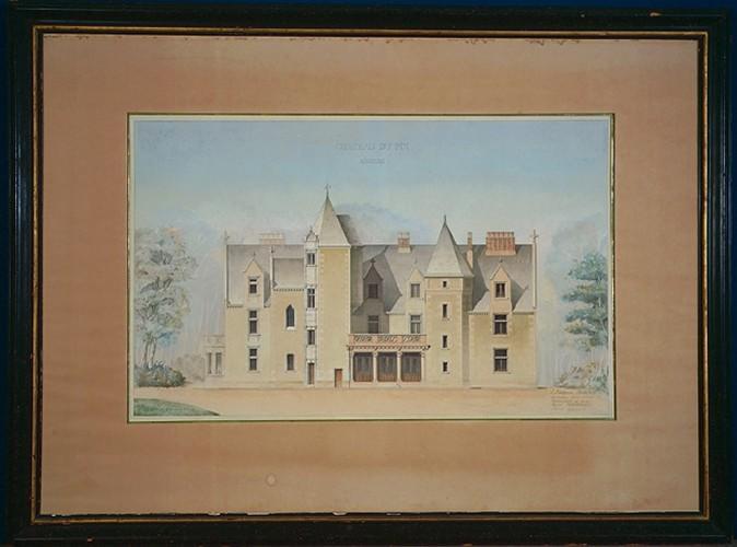 FOULQUIER Jean Antoine Valentin (architecte) : Château du Pin, Angers, Projet de restauration (Elévation)