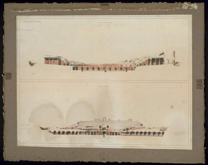 Amphithéâtre de Capoue. Etat des ruines en 1832_0