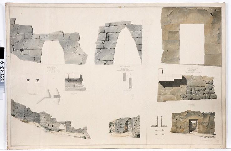 Murs et portes de Signia, d'Arpanium et d'Alatrium (Relevés) ; Murs et portes de Signia (Relevés) ; Murs et portes d'Alatrium (Relevés) ; Murs et portes d'Arpinium (Relevés)_0