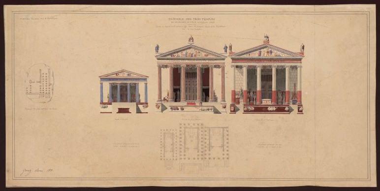 Rome, ensemble des trois temples du Forum Olitorium ((suite) du Forum Olitorium)_0