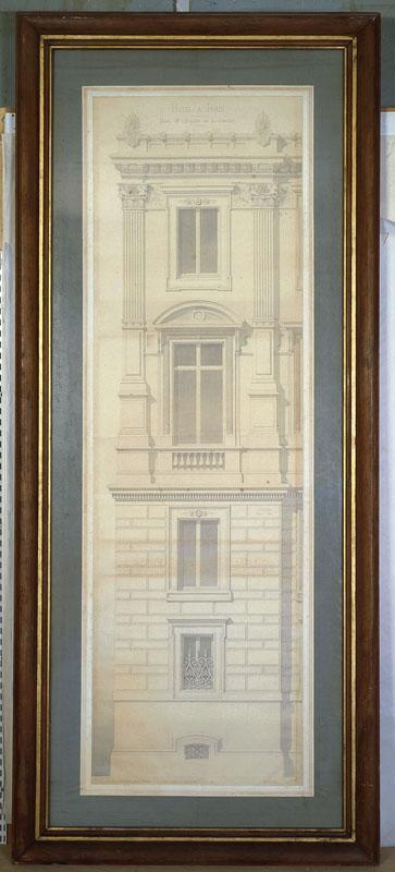 HENARD Antoine Julien (architecte) : Hôtel à Paris, rue de l'Université (Détail au 1/10e de l'exécution.)