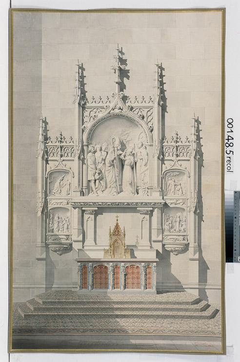 Eglise Saint-Bernard, Paris, projet (Autel du bras nord du transept)