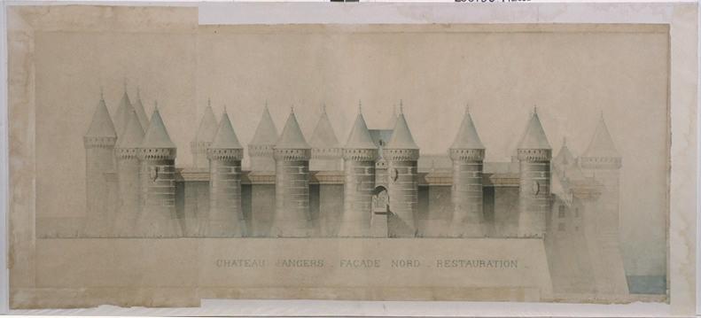 Château d'Angers, façade nord, restauration