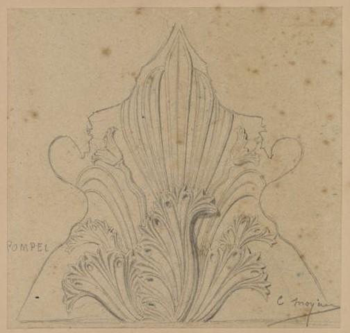 Pompéi, palmette sculptée_0