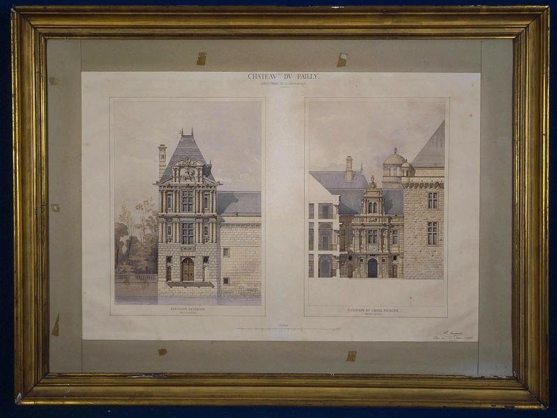 Château du Pailly (Haute-Marne) (Elévation d'un pavillon d'angle et du grand escalier)_0