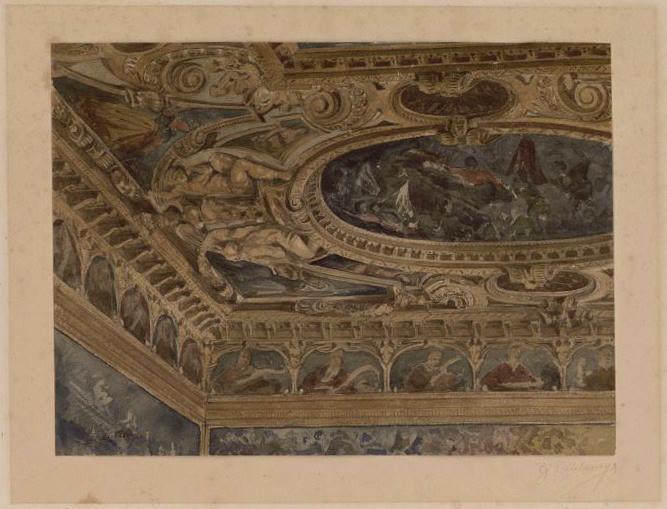 Venise, Palais des Doges (détail d'un plafond)_0
