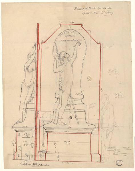 anonyme (dessinateur) : Projet de décoration pour le musée Saint-Jean