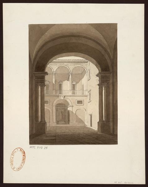 Cour d'une villa italienne
