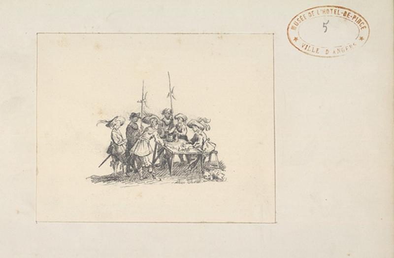 THOREL Cécile Marie (dessinateur) : Mousquetaires autour d'une table