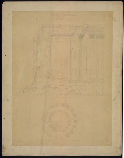 Temple de Vesta à Tivoli (Etat actuel.)