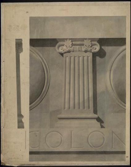 Reproduction d'une frise, contenant un petit pilastre_0