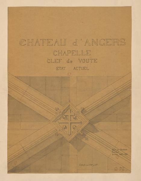 Château d'Angers, chapelle, clef de voûte, état actuel (actuel)