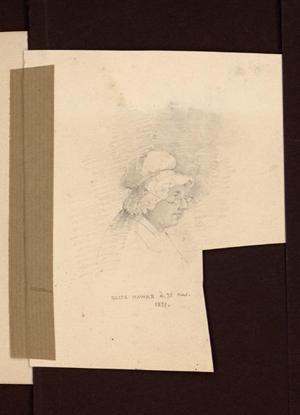 HAWKE Peter (?), OUVRIE Pierre Justin (?) : Portrait d'Eliza Hawke à 75 ans, Femme âgée