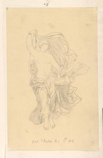 Femme drapée debout (génie ou allégorie)_0