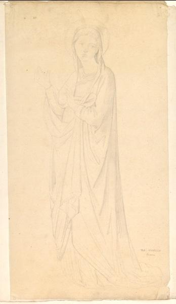 LENEPVEU Jules Eugène (dessinateur), FRA ANGELICO (dit), GUIDO di Pietro (d'après) : Sainte (d'après Fra Angelico, à Florence)