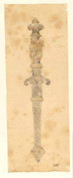 LENEPVEU Jules Eugène (dessinateur) : Dessin d'un objet