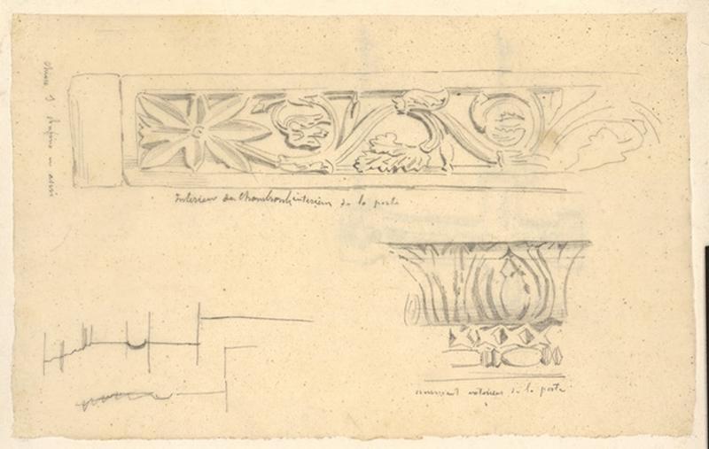 LENEPVEU Jules Eugène (dessinateur) : Etude de décors architecturaux