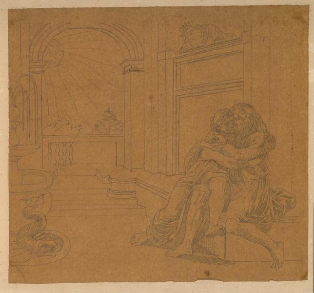 Abimélech épiant Isaac et Rébecca ; Couple (autre titre)_0
