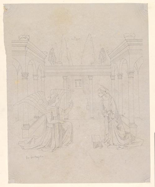 LENEPVEU Jules Eugène (dessinateur), GUIDO di Pietro, ANGELICO FRA (dit) : Annonciation (d'après)