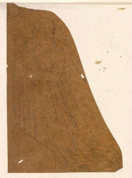 LENEPVEU Jules Eugène (dessinateur) : Femme agenouillée