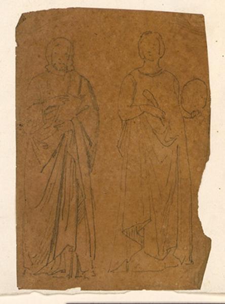 LENEPVEU Jules Eugène (dessinateur) : Deux personnages