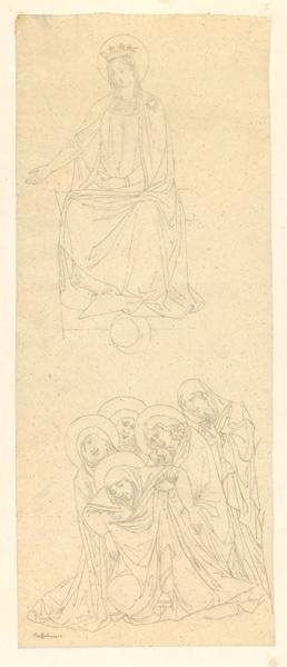 LENEPVEU Jules Eugène (dessinateur), BUFFALMACCO Buonamico (d'après) : Sainte (d'après Buonamico Buffalmacco)
