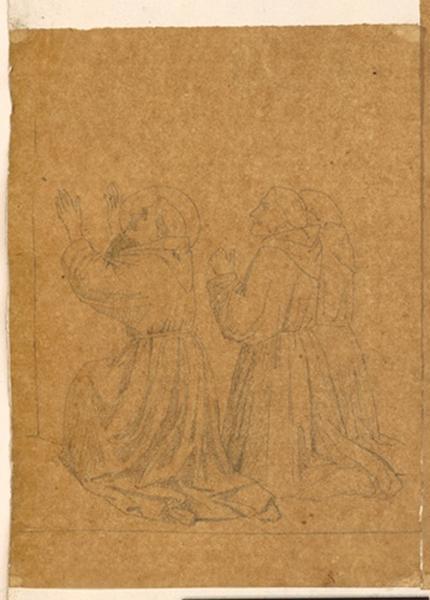 LENEPVEU Jules Eugène (dessinateur) : Saint François d'Assise