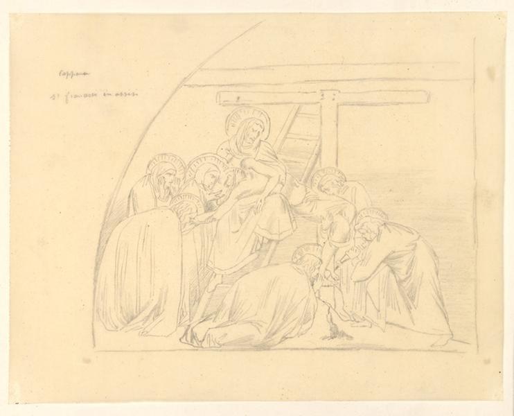 LENEPVEU Jules Eugène (dessinateur) : Descente de la Croix