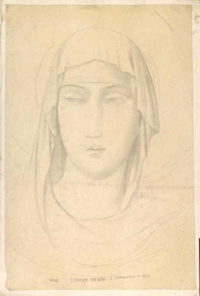 LENEPVEU Jules Eugène (dessinateur), MARTINI Simone, MEMMI Simone (d'après) : Sainte Claire d'Assise