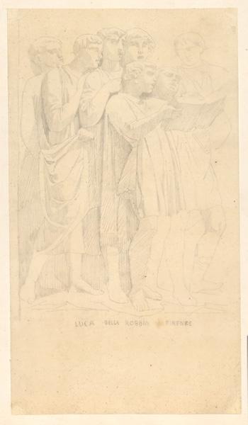 LENEPVEU Jules Eugène (dessinateur), ROBBIA Luca della (d'après) : Les chanteurs