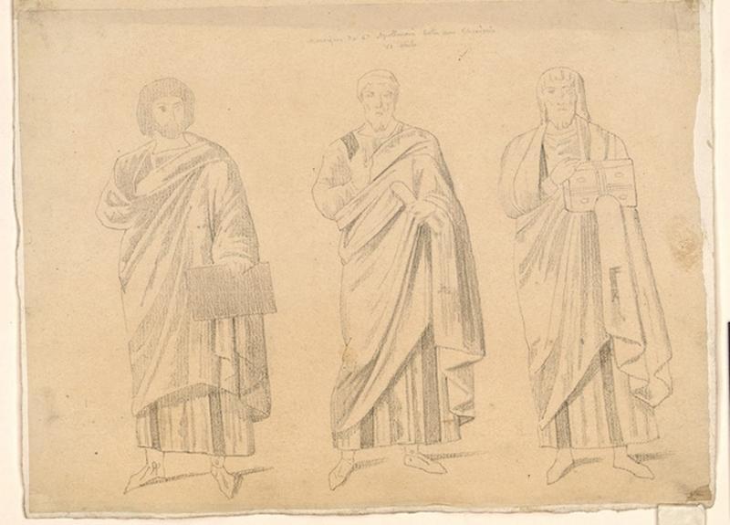 LENEPVEU Jules Eugène (dessinateur) : Homme debout