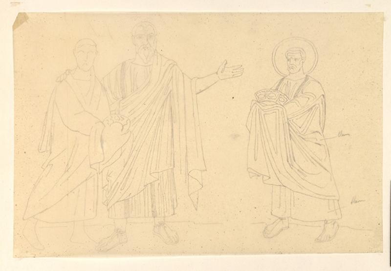 LENEPVEU Jules Eugène (dessinateur) : Hommes debout