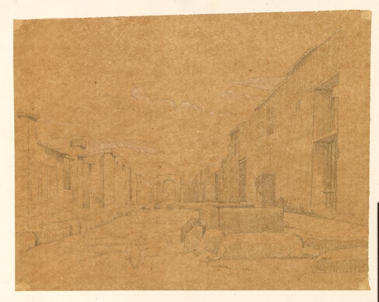 LENEPVEU Jules Eugène (dessinateur) : Ruines de Pompéi