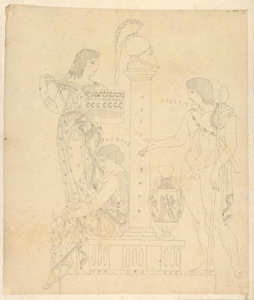 Oreste et Electre (sur la tombe d'Agamemnon) ; Scène antique_0