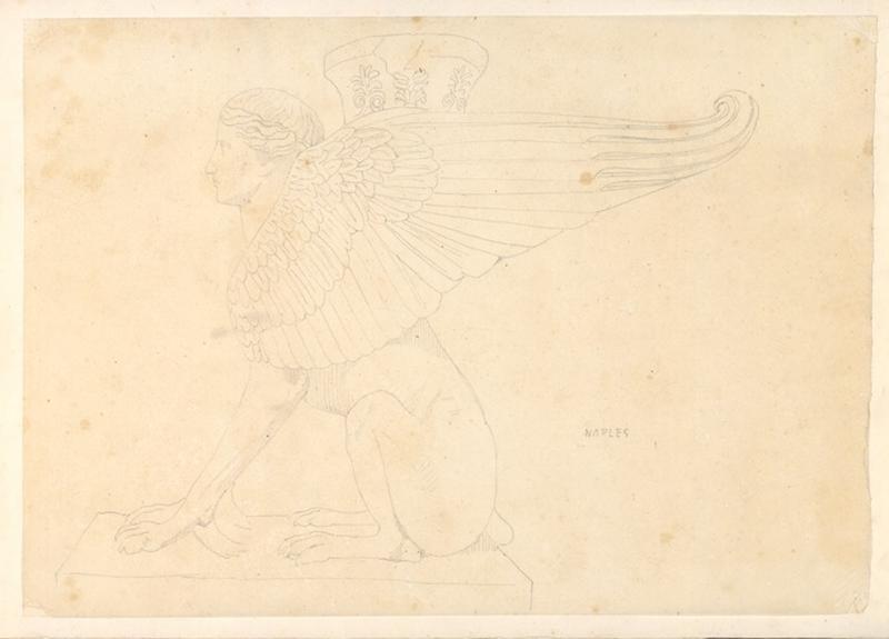 Sphinx ; Tête de femme