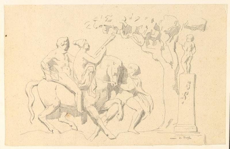 LENEPVEU Jules Eugène (dessinateur) : Musée de Naples
