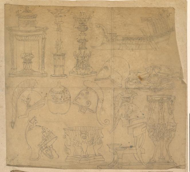 LENEPVEU Jules Eugène (dessinateur) : Etudes diverses