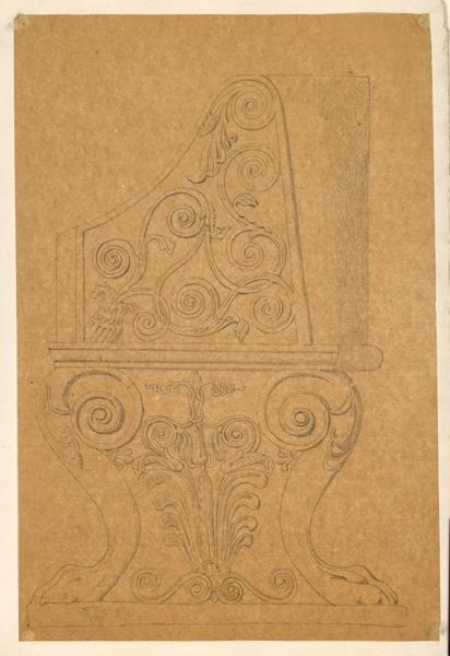 LENEPVEU Jules Eugène (dessinateur) : Siège, Motifs floraux