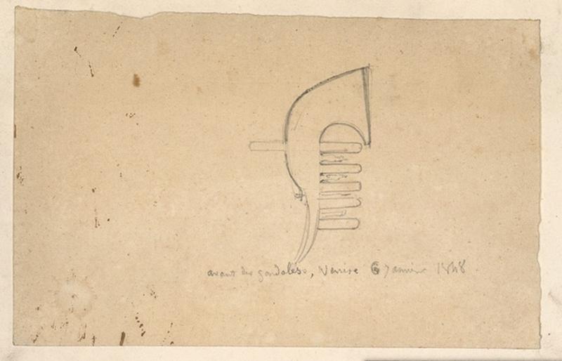 LENEPVEU Jules Eugène (dessinateur) : Gondoles à Venise