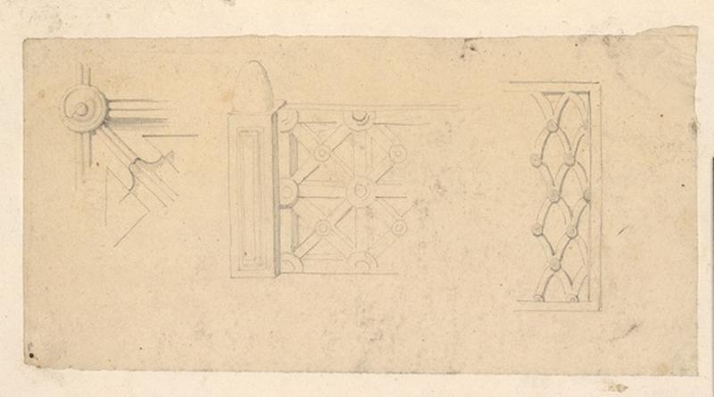LENEPVEU Jules Eugène (dessinateur) : Etude d'éléments architecturaux