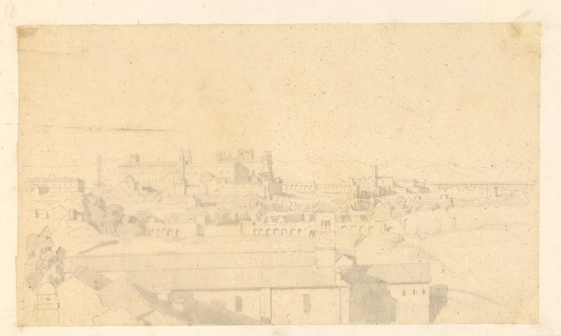 LENEPVEU Jules Eugène (dessinateur) : Vue de Rome