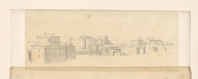LENEPVEU Jules Eugène (dessinateur) : paysage urbain