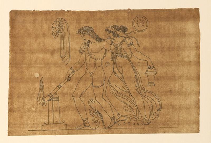 TURPIN DE CRISSE Lancelot Théodore Comte de (dessinateur) : Scène mythologique