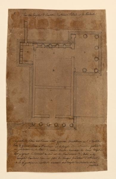 TURPIN DE CRISSE Lancelot Théodore Comte de : Plan des temples d'Erecthée, de Minerve, de Poliade et de Pandrose