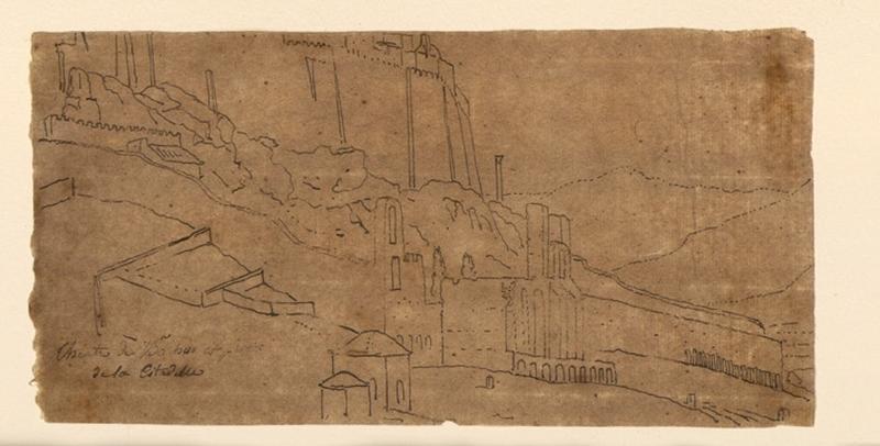 TURPIN DE CRISSE Lancelot Théodore Comte de (dessinateur, peintre) : Théâtre de Bacchus et Praton